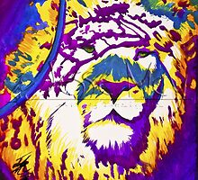 Colorful Lion by JesseMayberry