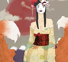 Autumn Kitsune by ElizabethAnyon