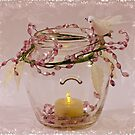 Beaded Candle Jar by Sandra Foster