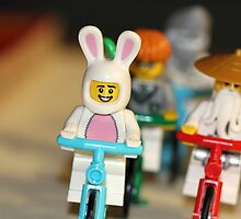 Bicycle Ride with the Easter Bunny and Friends by themindfulart