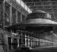 German flying saucer WW2 by Cliff Vestergaard