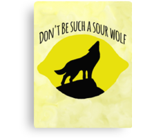 Sourwolf Canvas Print