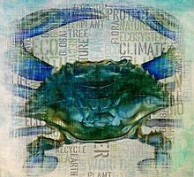 Blue Crab Eco style by HeckaDoodleDo