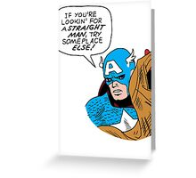 You tell 'em, Cap Greeting Card