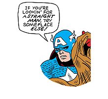 You tell 'em, Cap Photographic Print