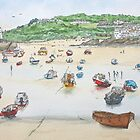 St Ives Harbour by Lynne  Kirby