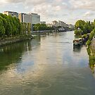River Seine at La Defense, France by Elaine Teague