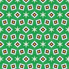 Funky Green Retro Pattern by dukepope