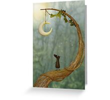 Raven Loves The Moon Greeting Card