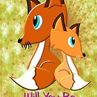 A Foxy Be My Valentine Card by Dennis Melling
