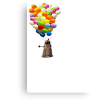 dalek with balloons  Canvas Print
