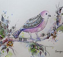 Pink Bird by Sampa Bhakta