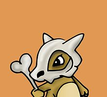 Cubone Pokemon by clairehawken