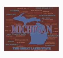 Michigan State Pride Map Silhouette  Kids Clothes