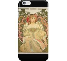'Obraz' by Alphonse Mucha (Reproduction) iPhone Case/Skin
