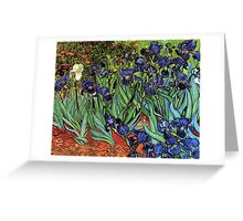 'Blue Irises' by Vincent Van Gogh (Reproduction) Greeting Card