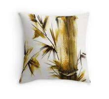 """""""Morning Light"""" Original acrylic and ink bamboo painting. Throw Pillow"""