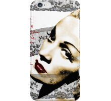 Marlene with a magnolia iPhone Case/Skin