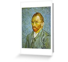 'Self Portrait' by Vincent Van Gogh (Reproduction) Greeting Card