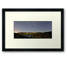 Valley Lake Nights Framed Print