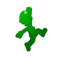 Luigi Green Shadow/Outline by Violentsofa