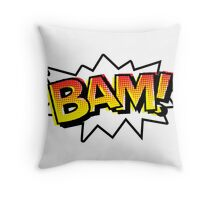 BAM! Comic Onomatopoeia Throw Pillow