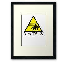 Warning Matrix bullet hazard Framed Print