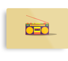 boombox - old cassette - Devices Metal Print