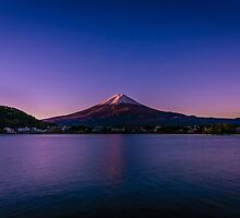 A heavily edited photo of mount fuji  by Cave