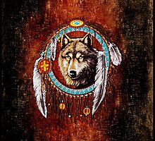 Wolf Dream Catcher by threesecond