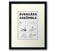 Superheroes Assembling Framed Print
