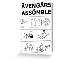 Superheroes Assembling Greeting Card