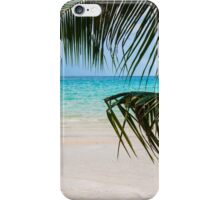 Exotic tropical beach with white sand and blue waters iPhone Case/Skin