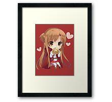 Asuna eating bread Framed Print