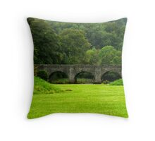 Green haven Throw Pillow