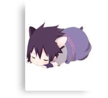 Chibi Sasuke Kitty Metal Print