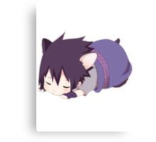 Chibi Sasuke Kitty Canvas Print