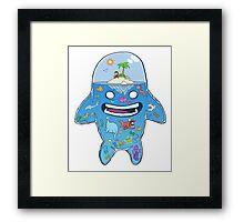 Aquarium Head Framed Print