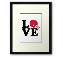Ping Pong table tennis love Framed Print