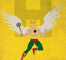 Hawkman - Superhero Minimalist Alphabet Clothing by justicedefender