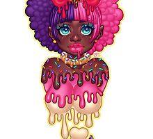 Dripping Donut Girl by Gunkiss