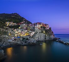 Manarola at Sunset, Cinque Terre, Italy by avresa