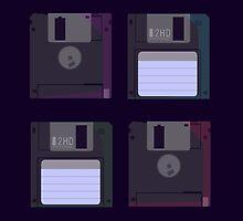 Floppies (Dark) by heatherdraws