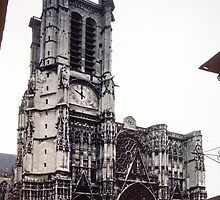 Facia Cathedral Troyes France 198405060003 by Fred Mitchell