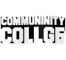 Community College- misspelled Poster