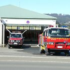 Fire station, Franklin, Tasmania by Margaret  Hyde