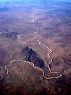 Aerial, Windhoek to Cape Town by Margaret  Hyde