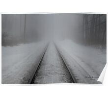 Foggy Tracks Poster