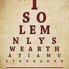 Harry Potter, Eye Chart by Alex Boatman