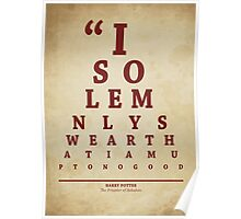 Harry Potter, Eye Chart Poster